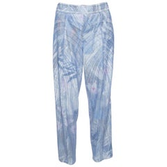 Emporio Armani Elite Blue Crystal Embellished Trousers M