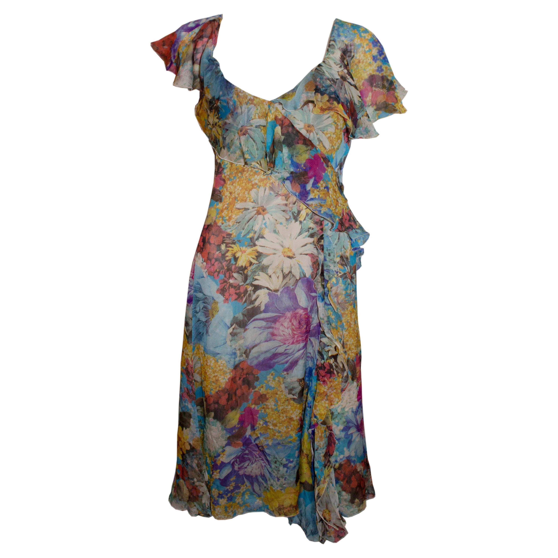 Emporio Armani Floral Silk Dress