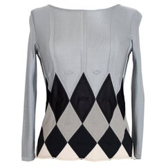 Emporio Armani Gray Viscose Evening Perforated Rhombus Shirt