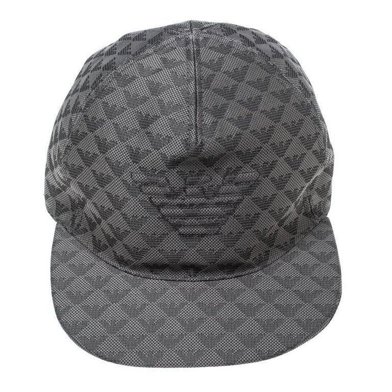 282900a1 Emporio Armani Grey Logo Detail Baseball Cap M