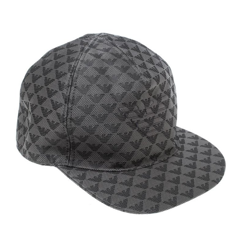 3645c4740d5 Emporio Armani Grey Logo Detail Baseball Cap M For Sale at 1stdibs