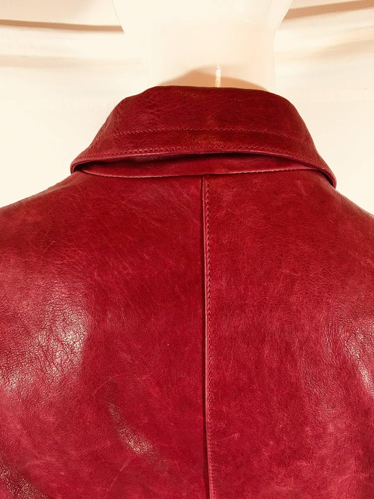 Emporio Armani Leather Jacket For Sale 5