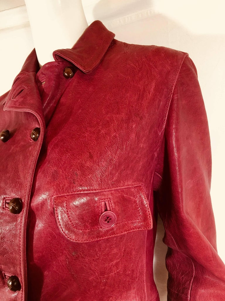 Emporio Armani Leather Jacket For Sale 1