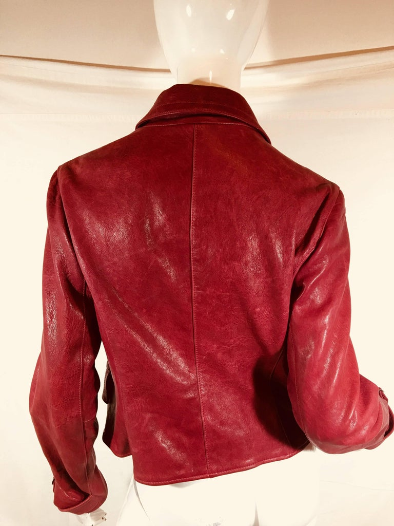 Emporio Armani Leather Jacket For Sale 4