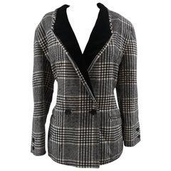 Emporio Armani pied de poule wool jacket