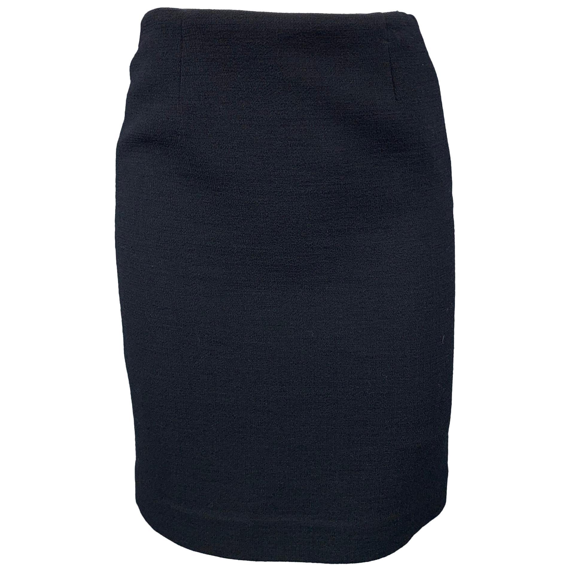 EMPORIO ARMANI Size S Black Crepe Pencil Skirt
