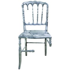 Emporium Dining Chair with Three in Polished Aluminum
