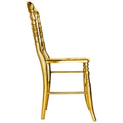 Emporium Dining Chair in Gold Painted Aluminum