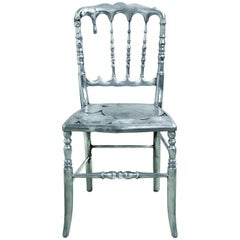 Emporium Dining Chair in Polished Aluminum