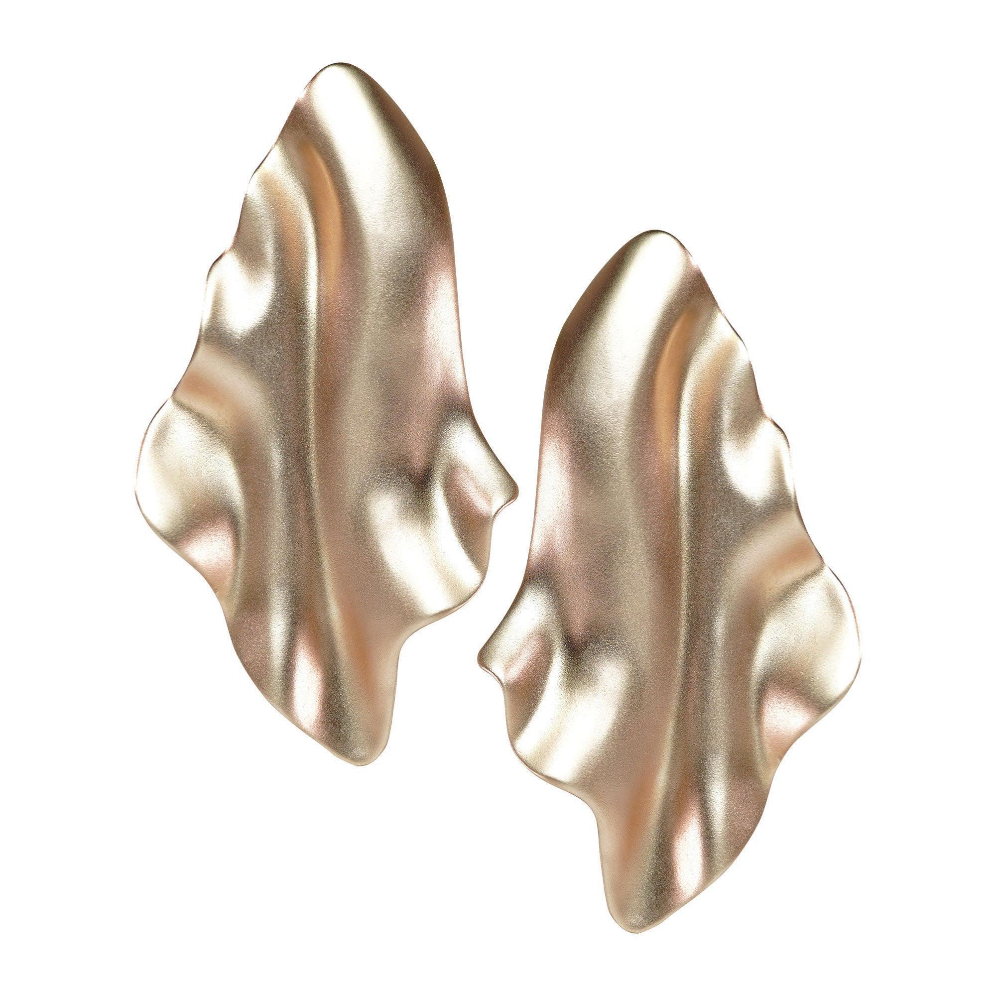 Enairo 18k Rose Gold Drop Earrings