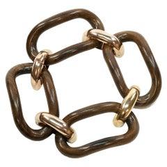 Enairo 18k Rose Gold Rosewood Chain Bracelet
