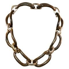 Enairo 18k Rose Gold Rosewood Chocker Necklace