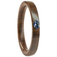 Enairo Dark Rosewood Blue Iolite Bangle