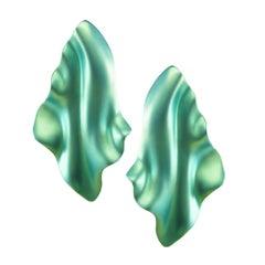 Enairo Green Titanium Drop Earrings