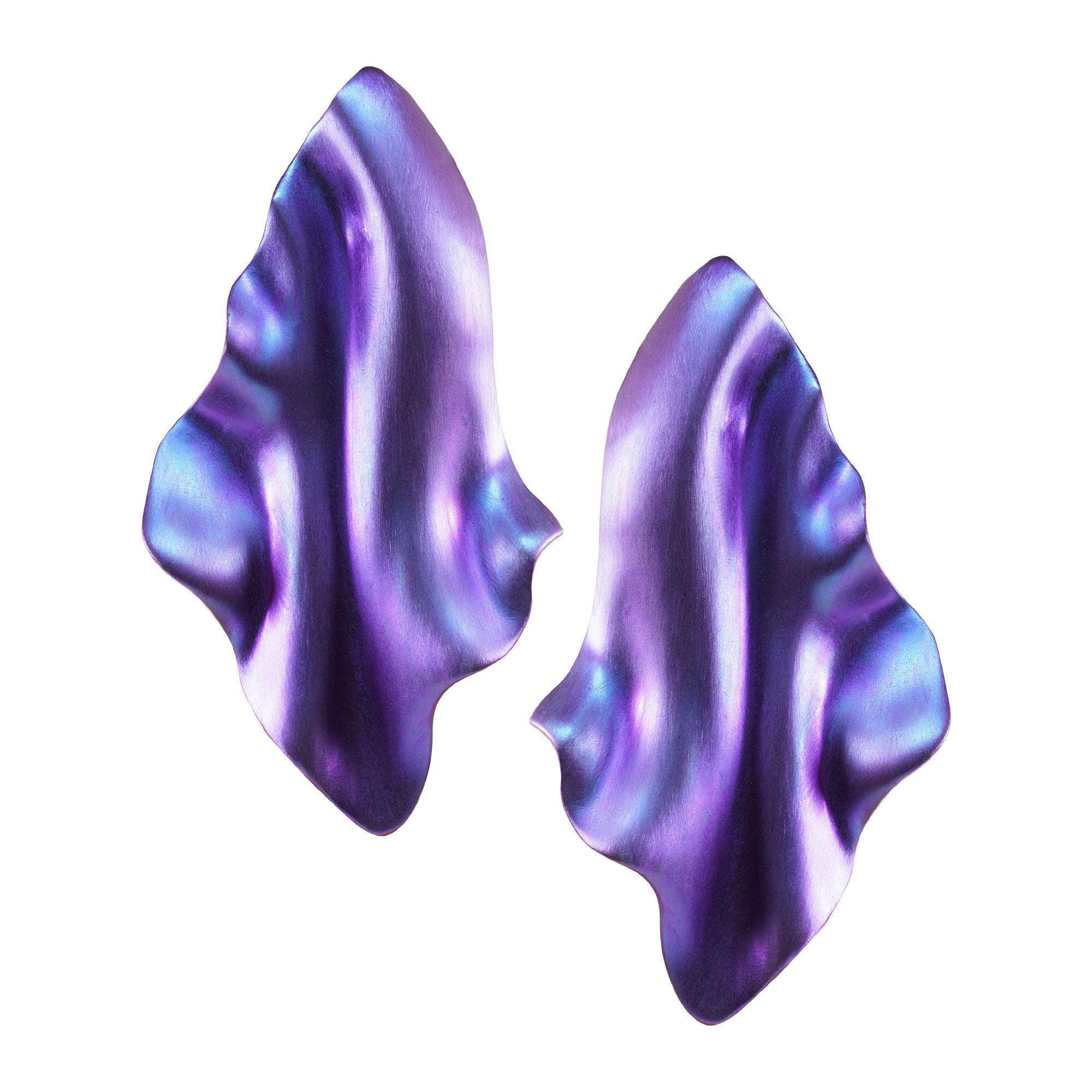 Enairo Purple Titanium Drop Earrings