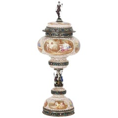 Enamel and Silver Goblet by Hermann Böhm
