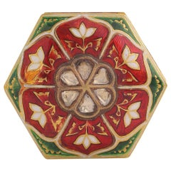 Enamel Box with Diamonds Handcrafted in 18 Karat Gold