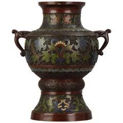 Enamel Bronze Vase Censer in the Shape of a Bell Bird, Japan, Edo or Meiji