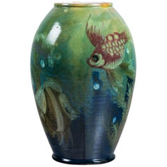 Enamel Ceramic Flower Vase by Fabbri Davide for La Salamandra, Perugia, Italy