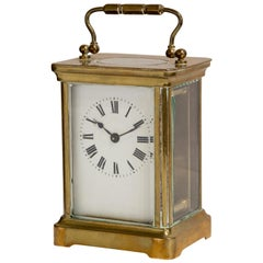 Enamel Dial French 8 Day Carriage Clock, circa 1920