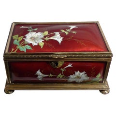 Enamel Hand Painted Hinged Box