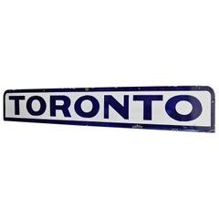 Enamel/Porcelain Train Station Toronto Sign