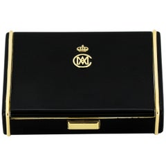 Enamel & Silver Tobacco Box Made by Cartier for Maria Christina of Austria