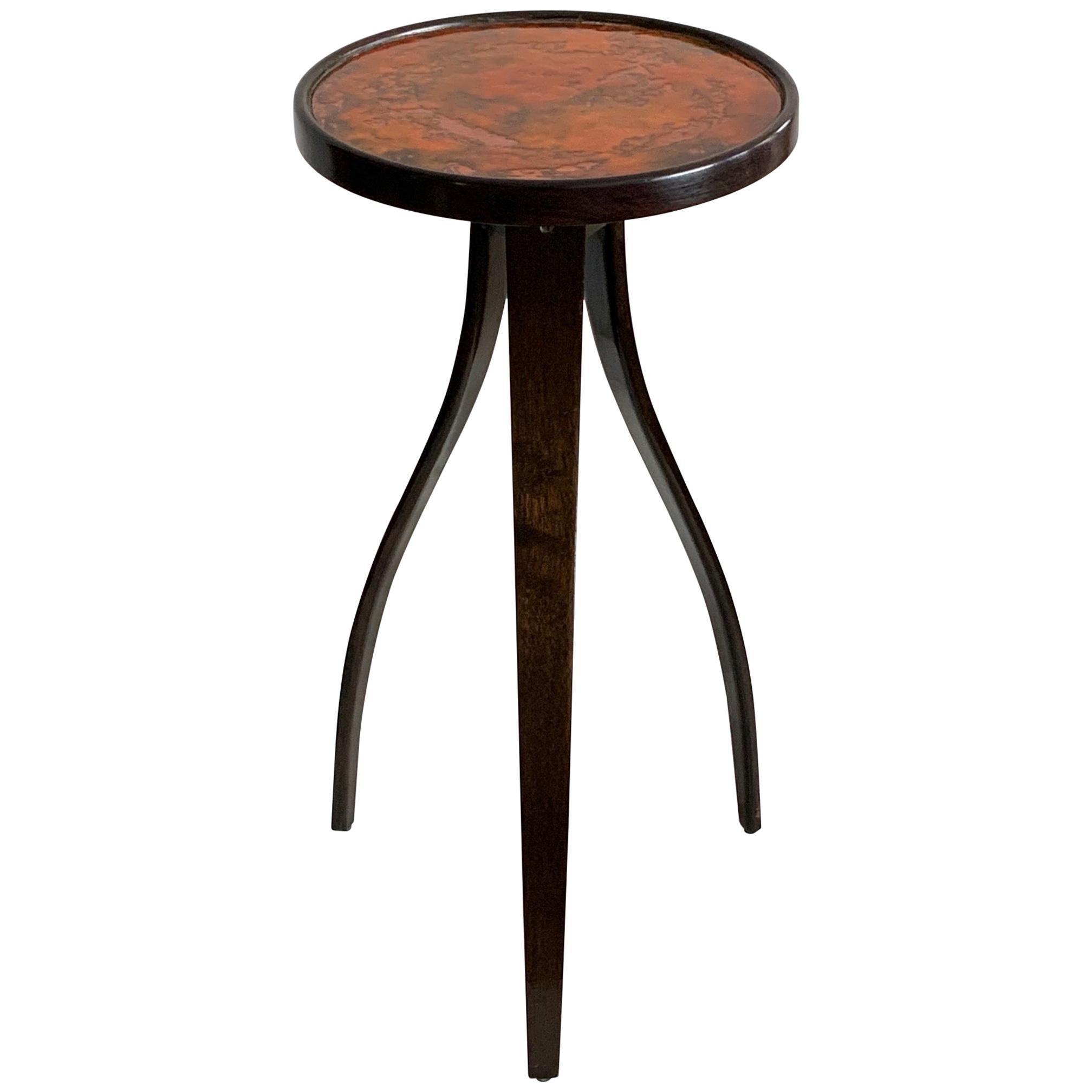 Enamel Top Side Table by Harvey Probber