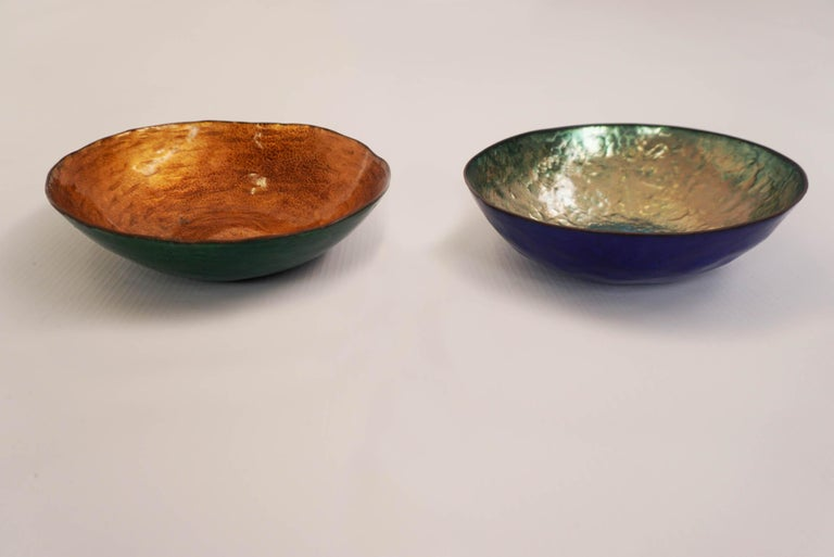 Enameled Bowl by Paolo De Poli, 1950, Italy In Good Condition For Sale In Chiasso, CH