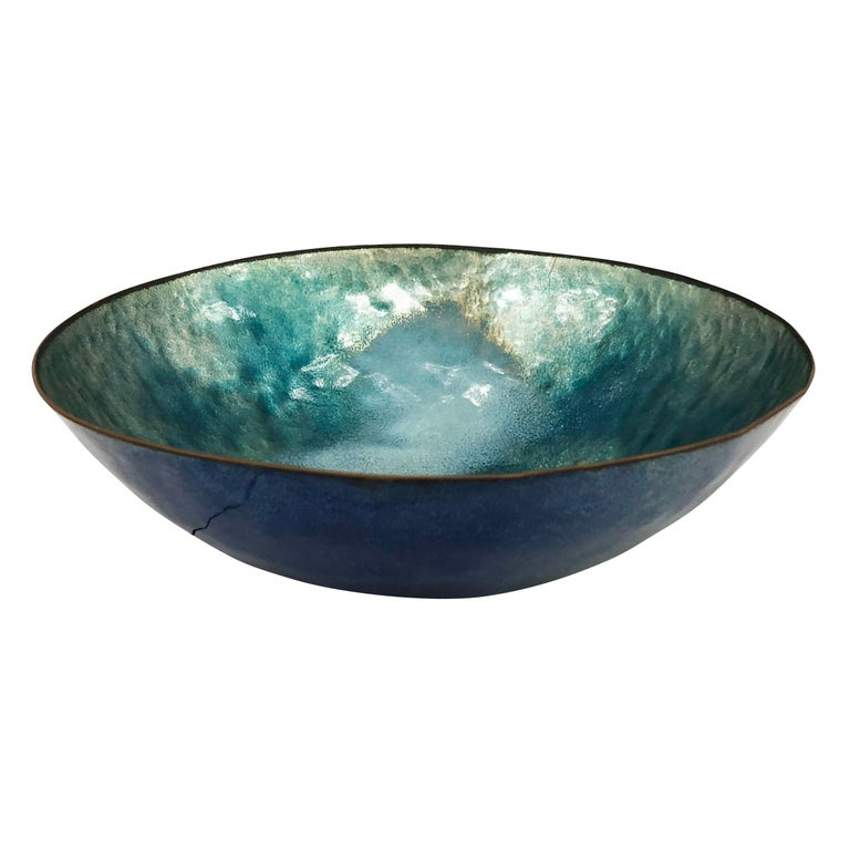 Mid-Century Modern Enameled Bowl by Paolo De Poli, Italy, 1960s For Sale