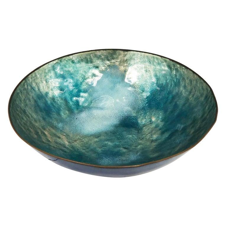 Italian Enameled Bowl by Paolo De Poli, Italy, 1960s For Sale
