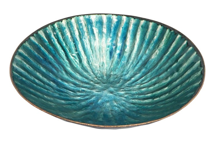 Italian Enameled Bowl by Paolo DePoli, Italy, 1960s For Sale
