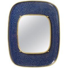 Enameled Brass Mirror, 1950s