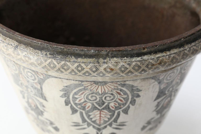 Enameled Cast Iron Rouen Urn For Sale 4