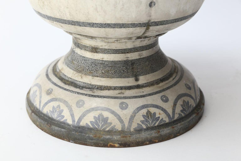 Enameled Cast Iron Rouen Urn For Sale 5