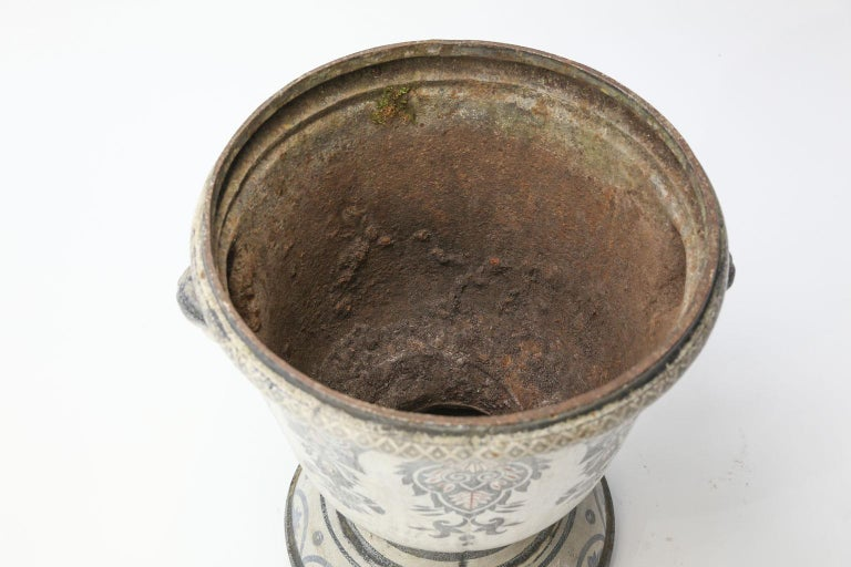 Enameled Cast Iron Rouen Urn For Sale 1