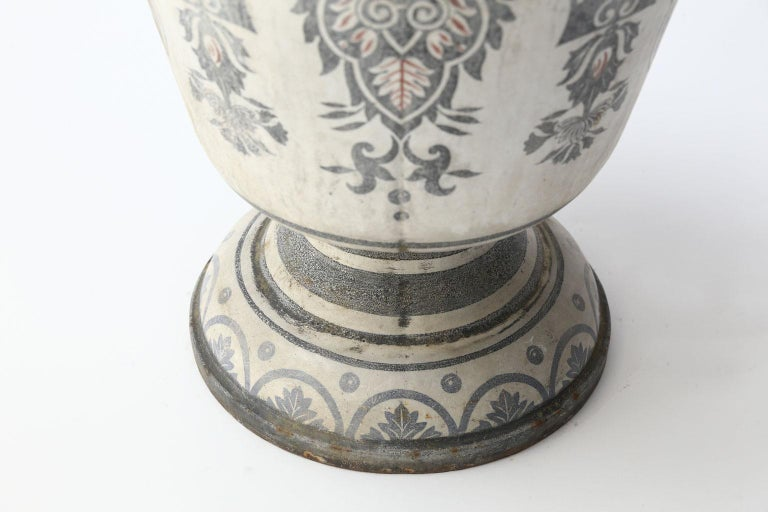 Enameled Cast Iron Rouen Urn For Sale 3