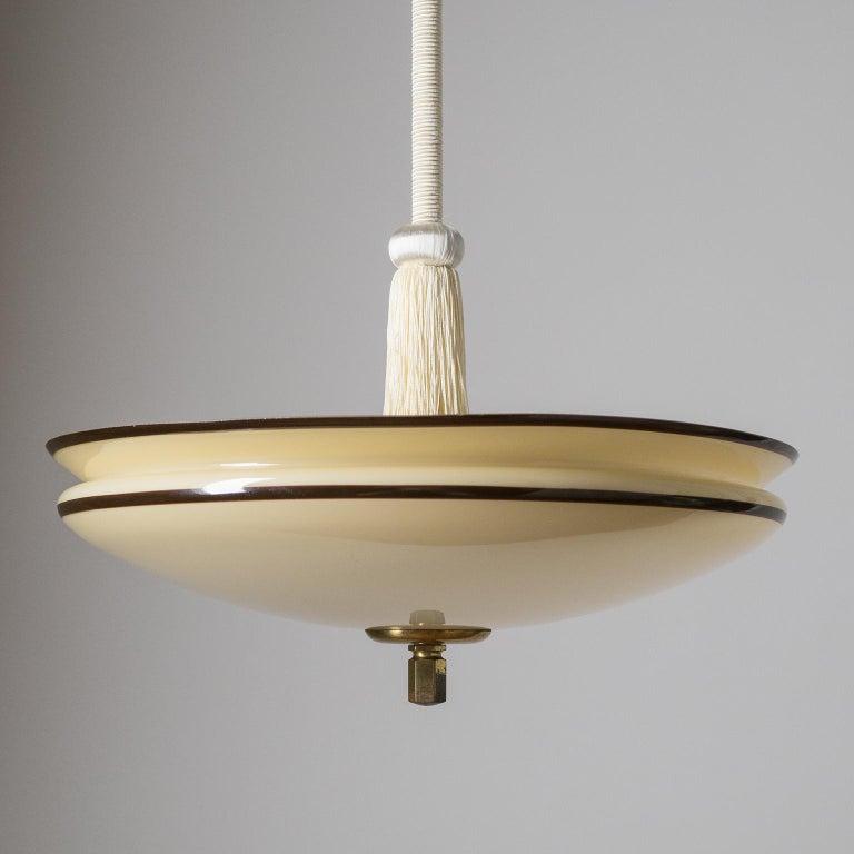 Enameled Glass Pendant, 1930s For Sale 5