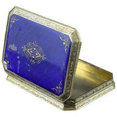 Enameled Silver Box, 19th Century