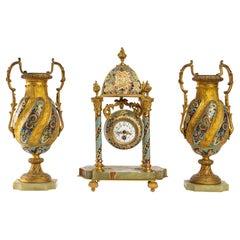 Enamelled and Cloisonné Mantelpiece