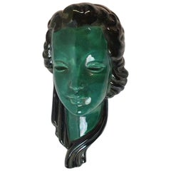 Enamelled Ceramic Mask, circa 1950