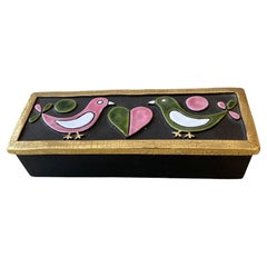 Enamelled Ceramic Top Box, Mithé Espelt 60's