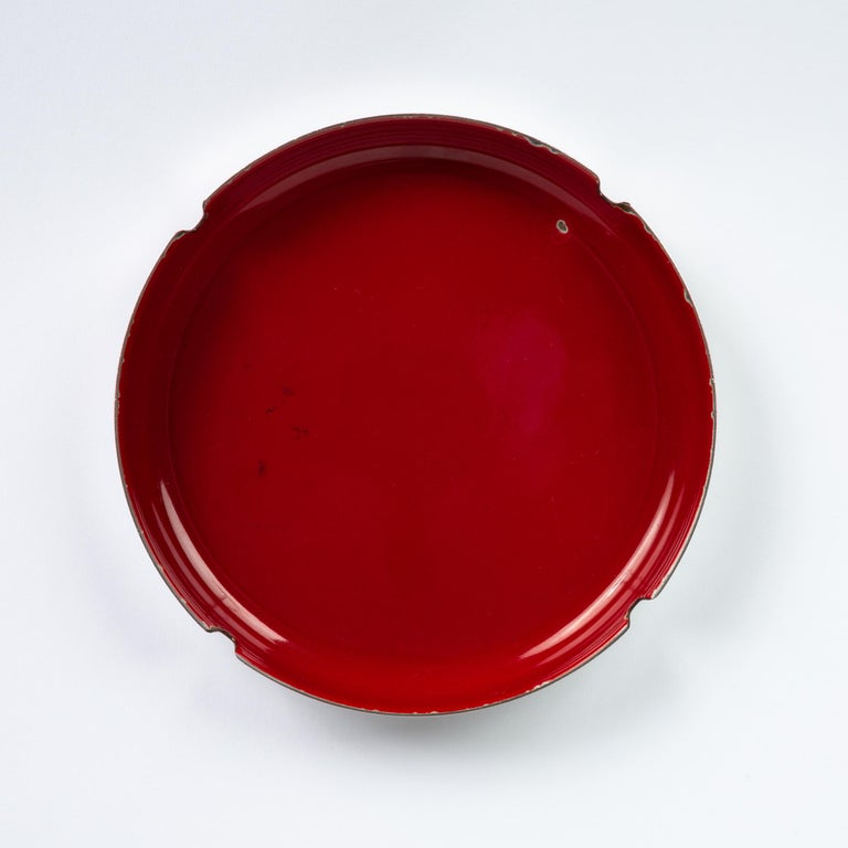 Enamelware and Stainless Steel Ashtray by Leif Wessmann For Sale 5