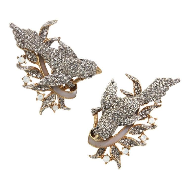 Ines x Ciner Enchanting Bird earring