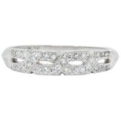 Enchanting Edwardian 0.30 Carat Diamond Platinum Trellis Band Ring