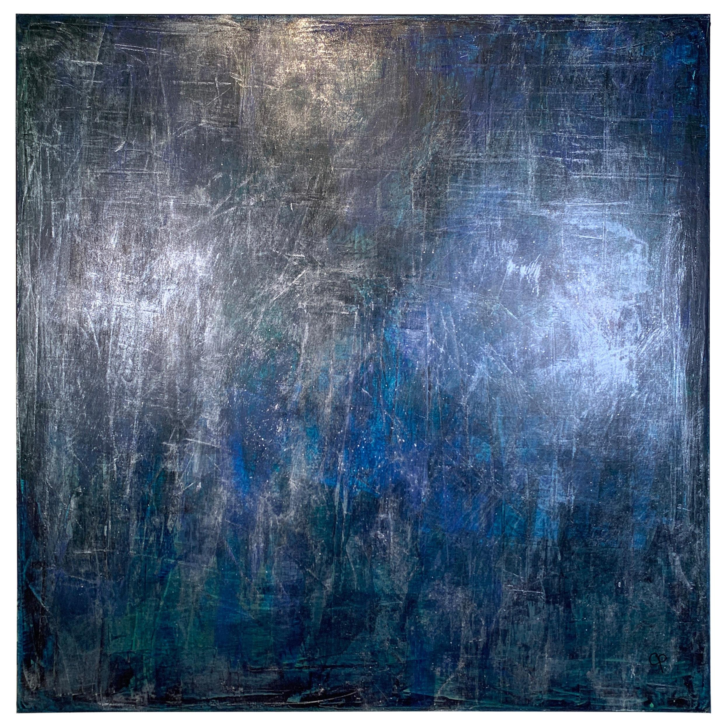 Enchanting Orb, Venetian Plaster and Acrylic Painting, Carol Post, 2019