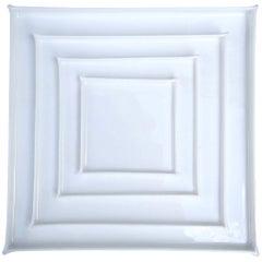 Enchanting White Geometry Bone China Plates by Ann Van Hoey for Serax