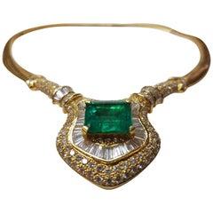 Enchantress Emerald and Diamond Necklace
