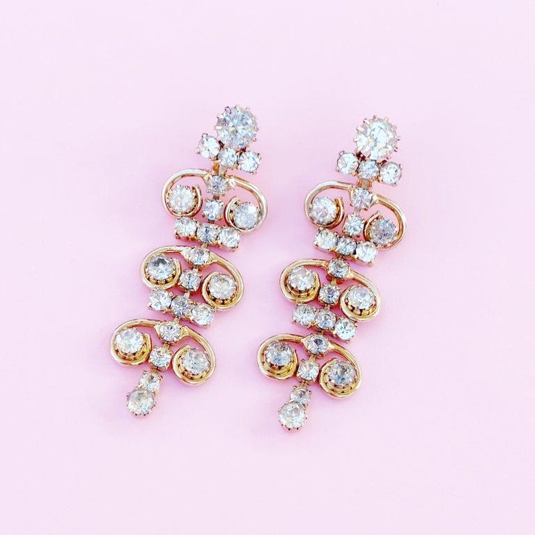 - Vintage item  - Each earring measures 2.5
