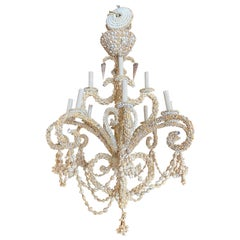 Encrusted Seashell Shell Palm Beach 12-Light Chandelier